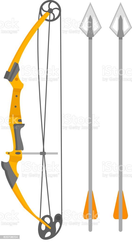 Crossbow arbalest vector illustration vector art illustration