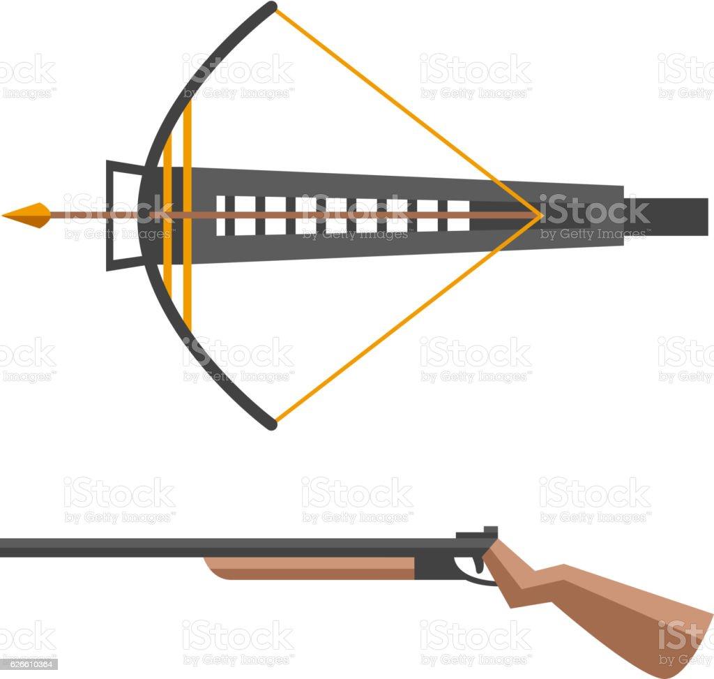 Crossbow vector illustration. gun vector art illustration