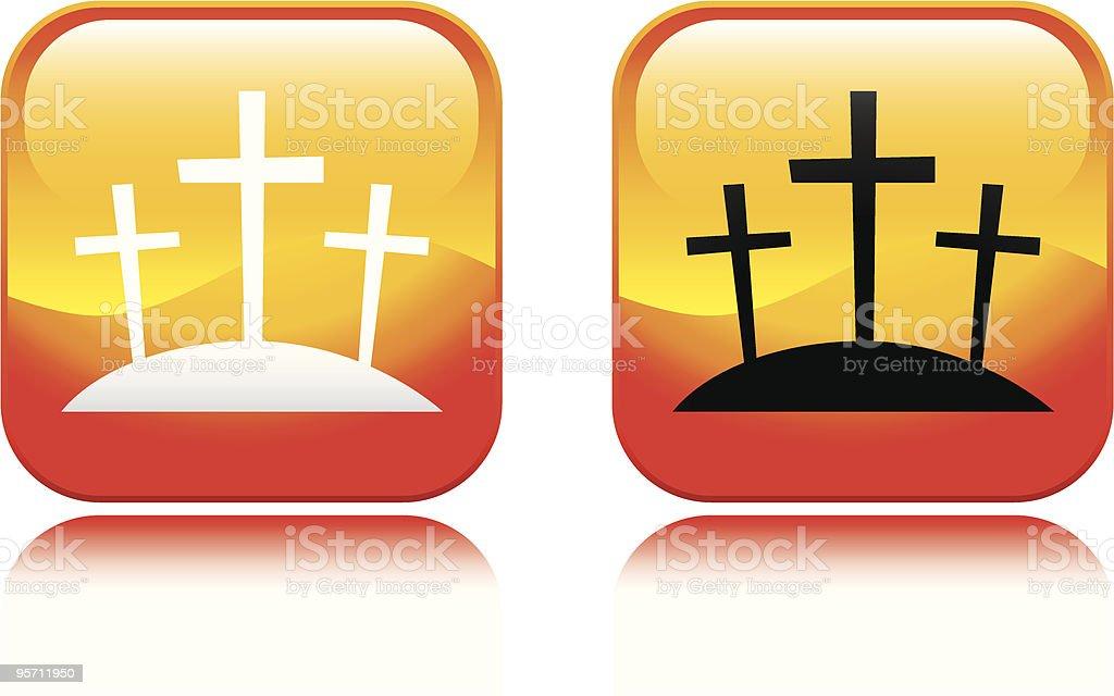 Crosses Icon royalty-free stock vector art