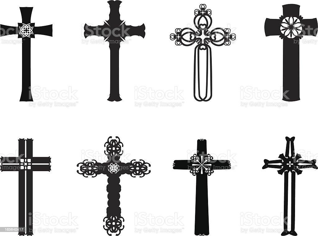 Crosses royalty-free stock vector art