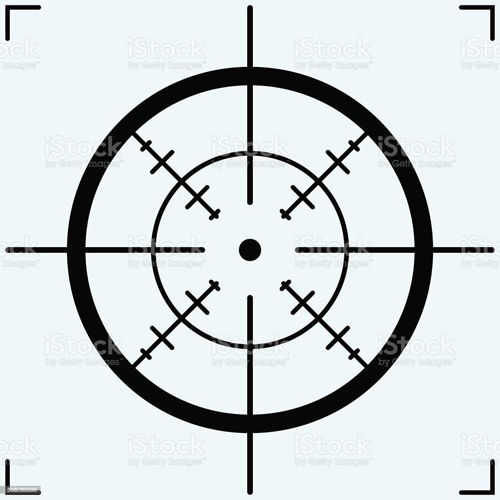 Crosshair, icon vector art illustration