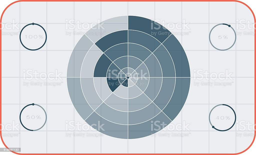 Crosshair target symbol success aim circle vector vector art illustration