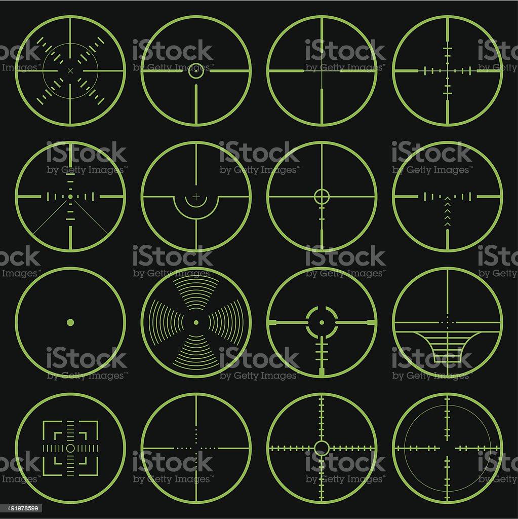 crosshair royalty-free stock vector art