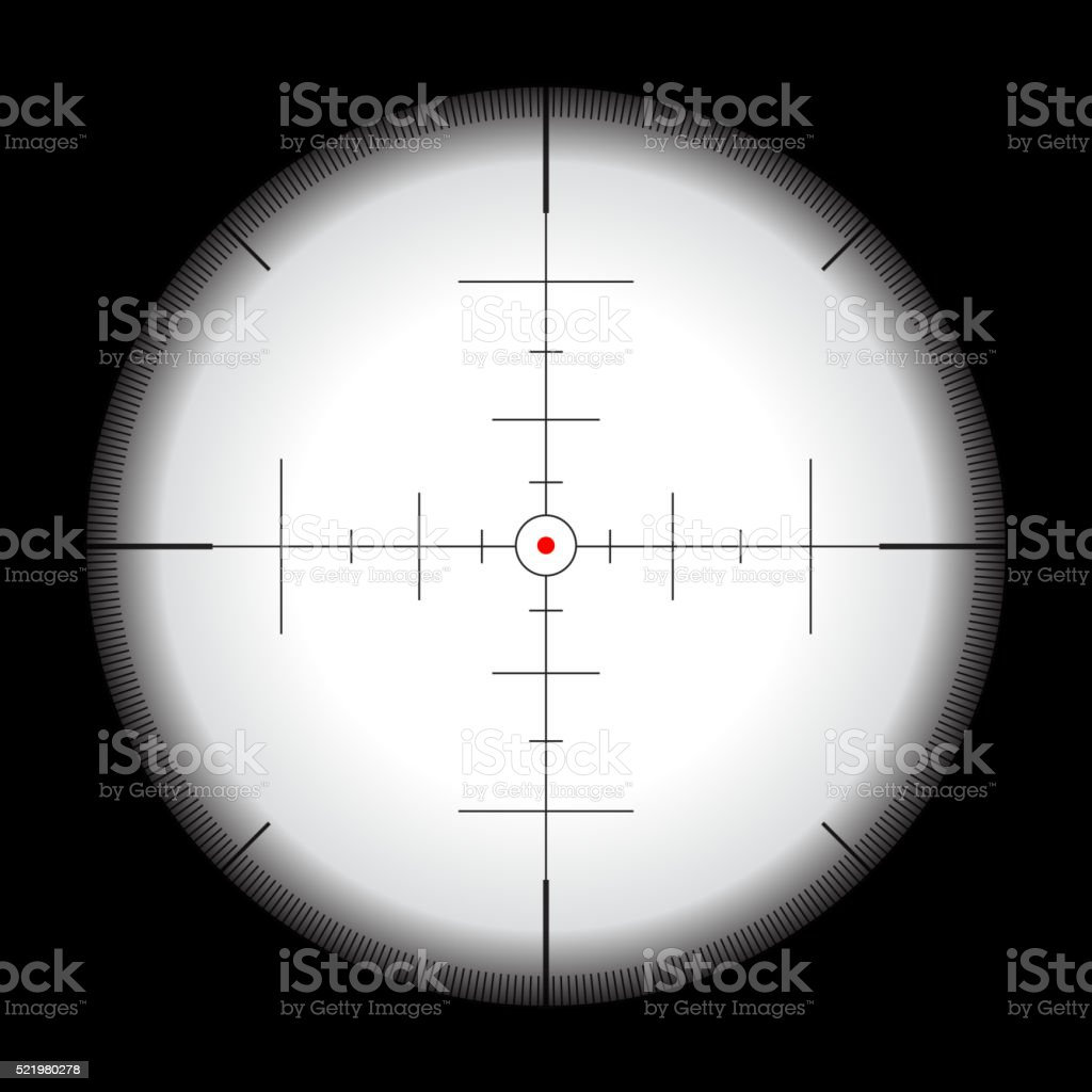 Crosshair vector illustration vector art illustration