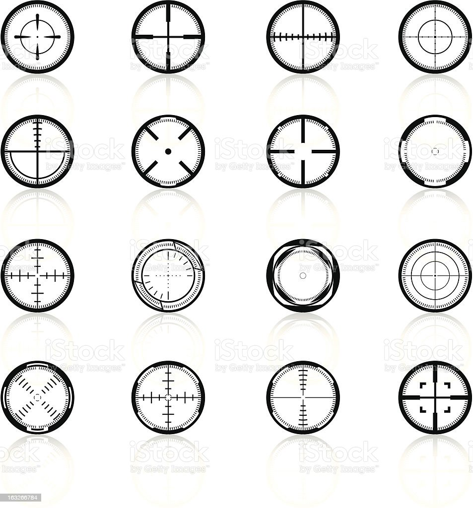 Crosshairs Set2 - Black Series royalty-free stock vector art