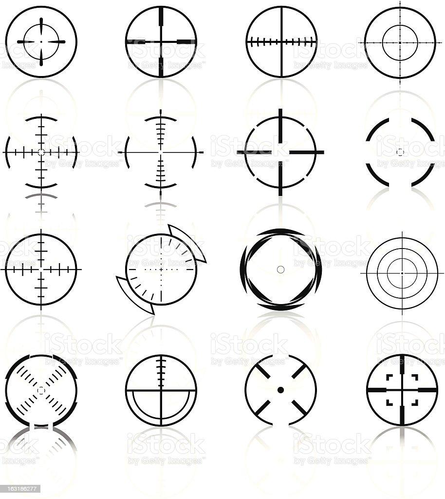 Crosshairs Set3 - Black Series royalty-free stock vector art