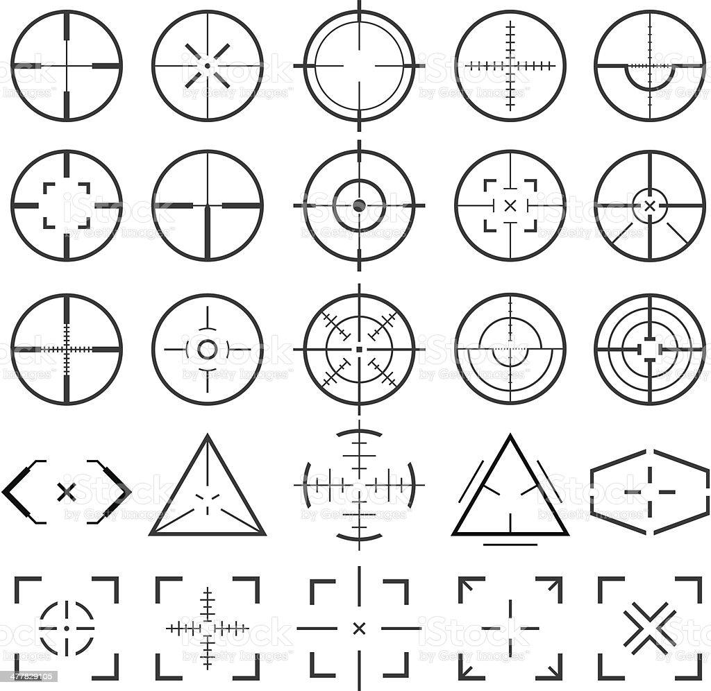 Crosshairs vector art illustration