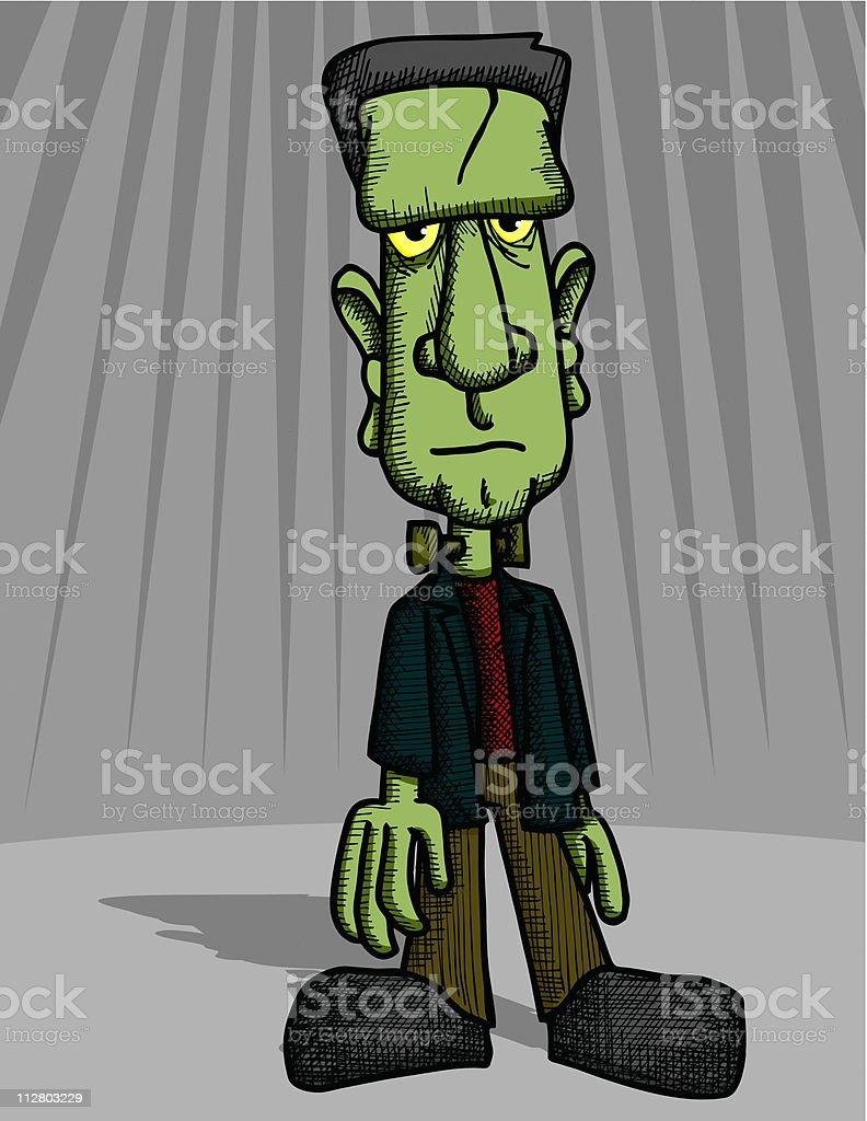 Crosshatched Frankenstein royalty-free stock vector art