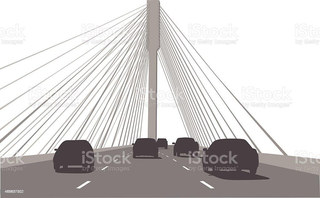 CrossingTheBridge vector art illustration