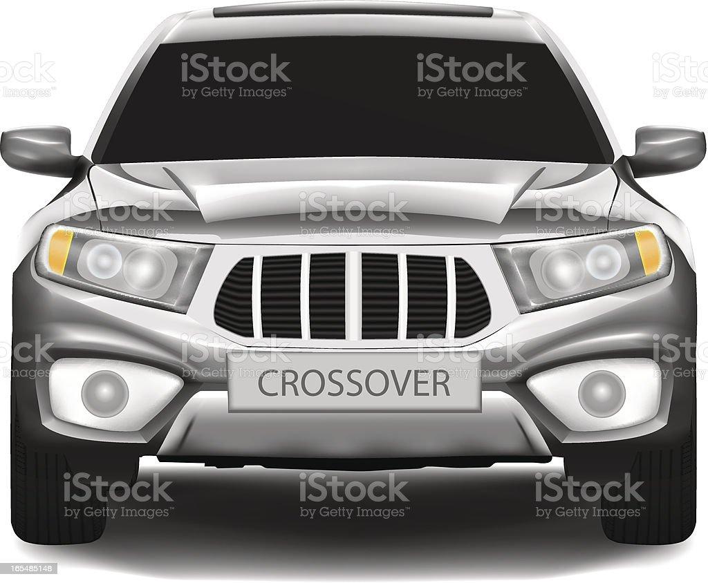 Crossover car (SUV) vector art illustration