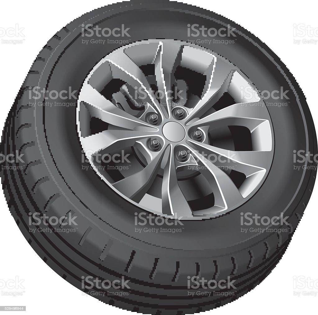 Crossover wheel vector art illustration