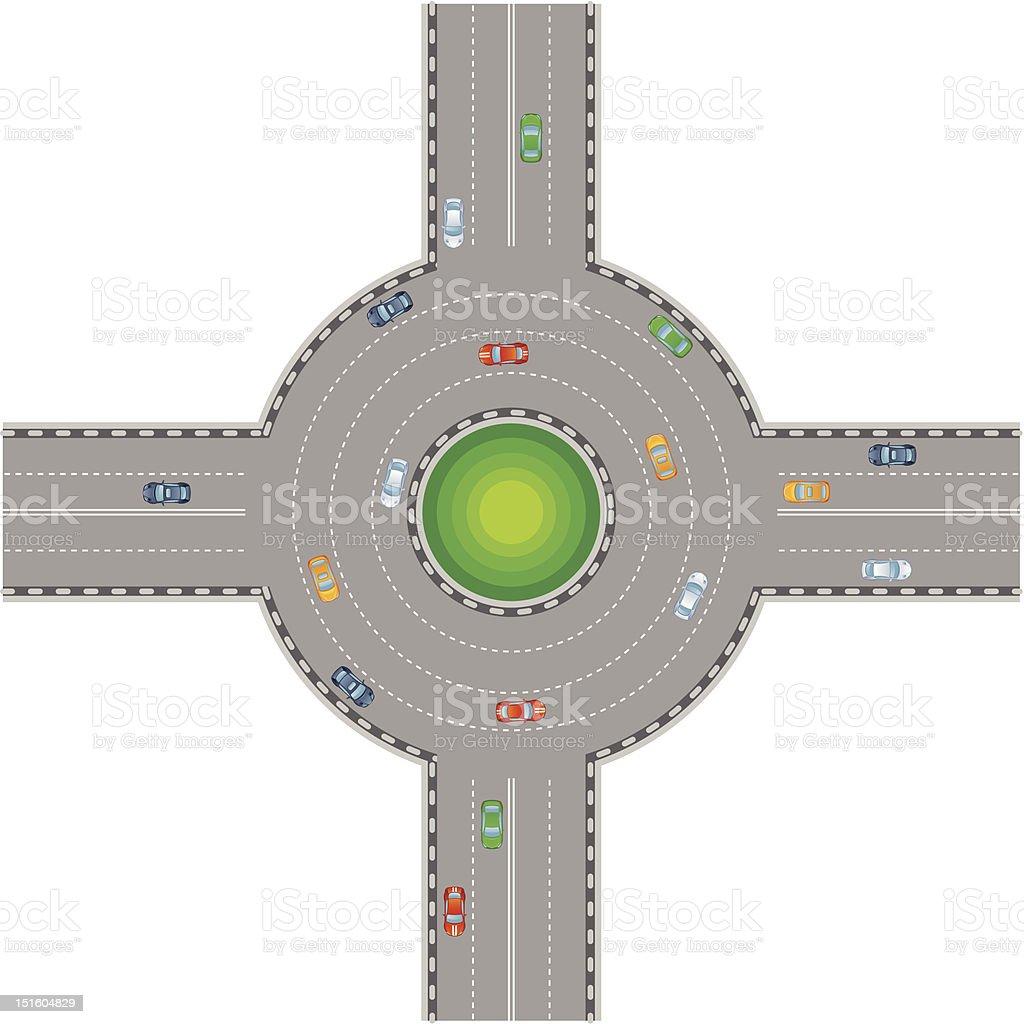 Crossroads vector art illustration