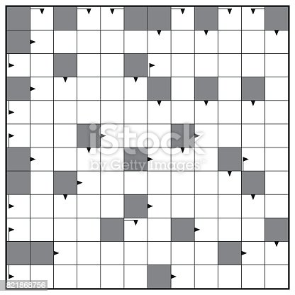 Crossword Blank Crossword Puzzle Pattern Square Format Template To