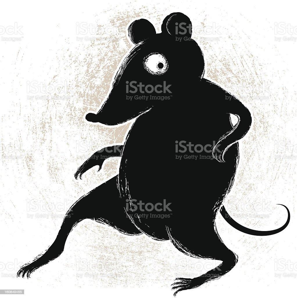 Crouching Rodent vector art illustration