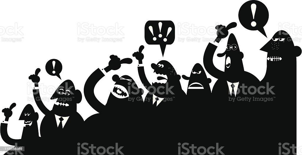 Crowd argument vector art illustration