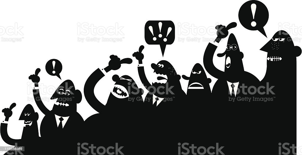 Crowd argument vector art illustration