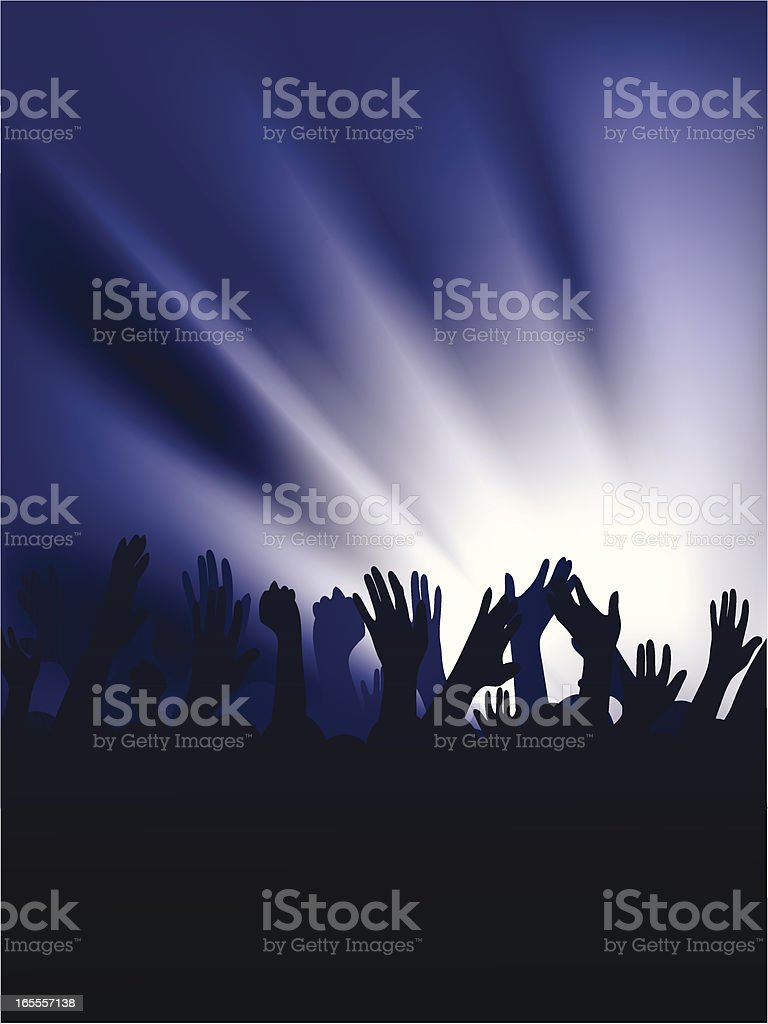 Crowd at a nightclub/concert royalty-free stock vector art