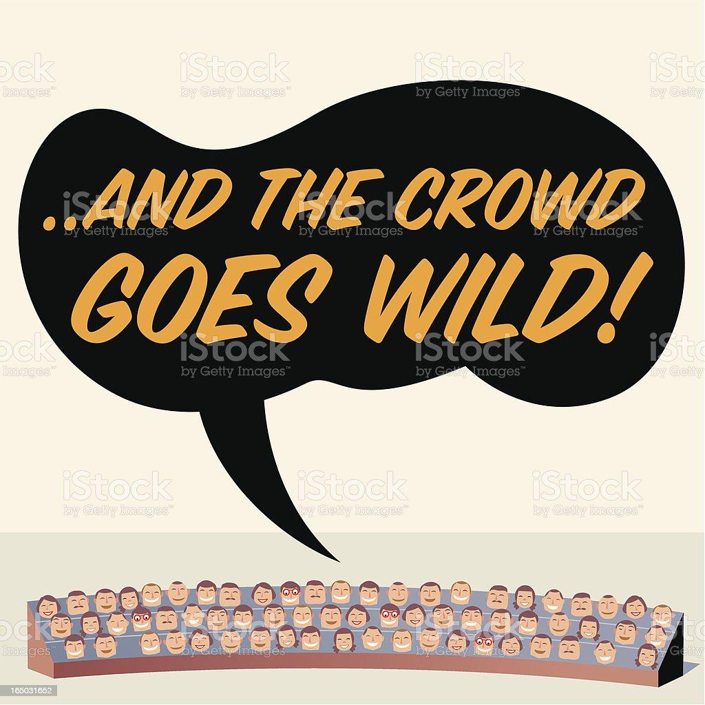 Crowd Goes Wild! vector art illustration