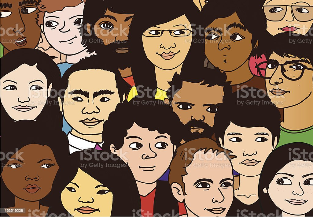 Crowd of People royalty-free stock vector art