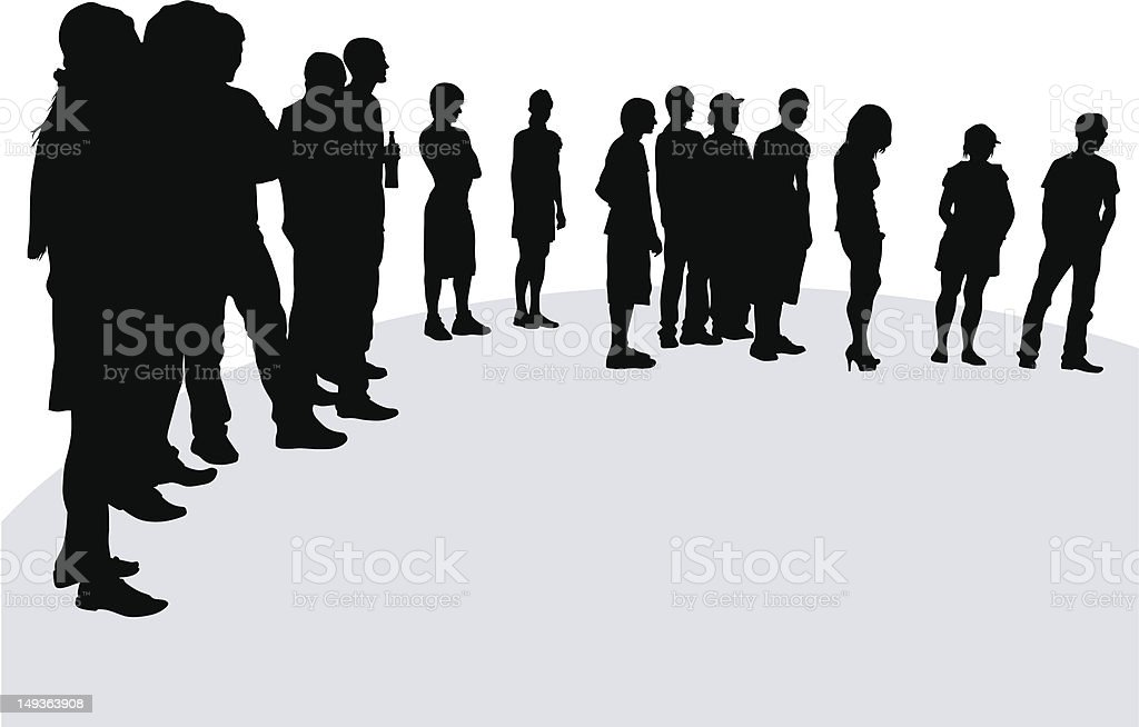 Crowd on stage royalty-free stock vector art