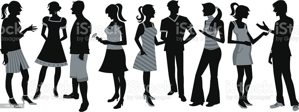 Crowd people royalty-free stock vector art