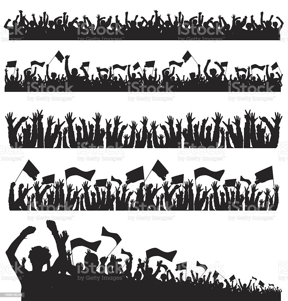 Crowd vector art illustration