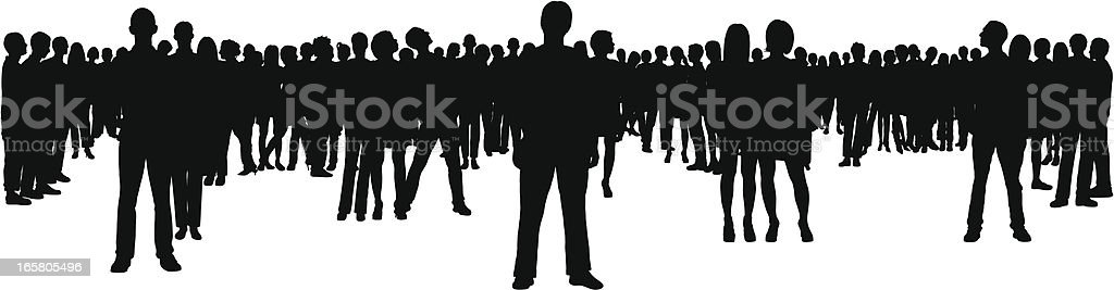 Crowd (68 Complete, Moveable, Detailed People) royalty-free stock vector art