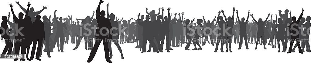 Crowd (80 Complete, Moveable, Detailed People) vector art illustration