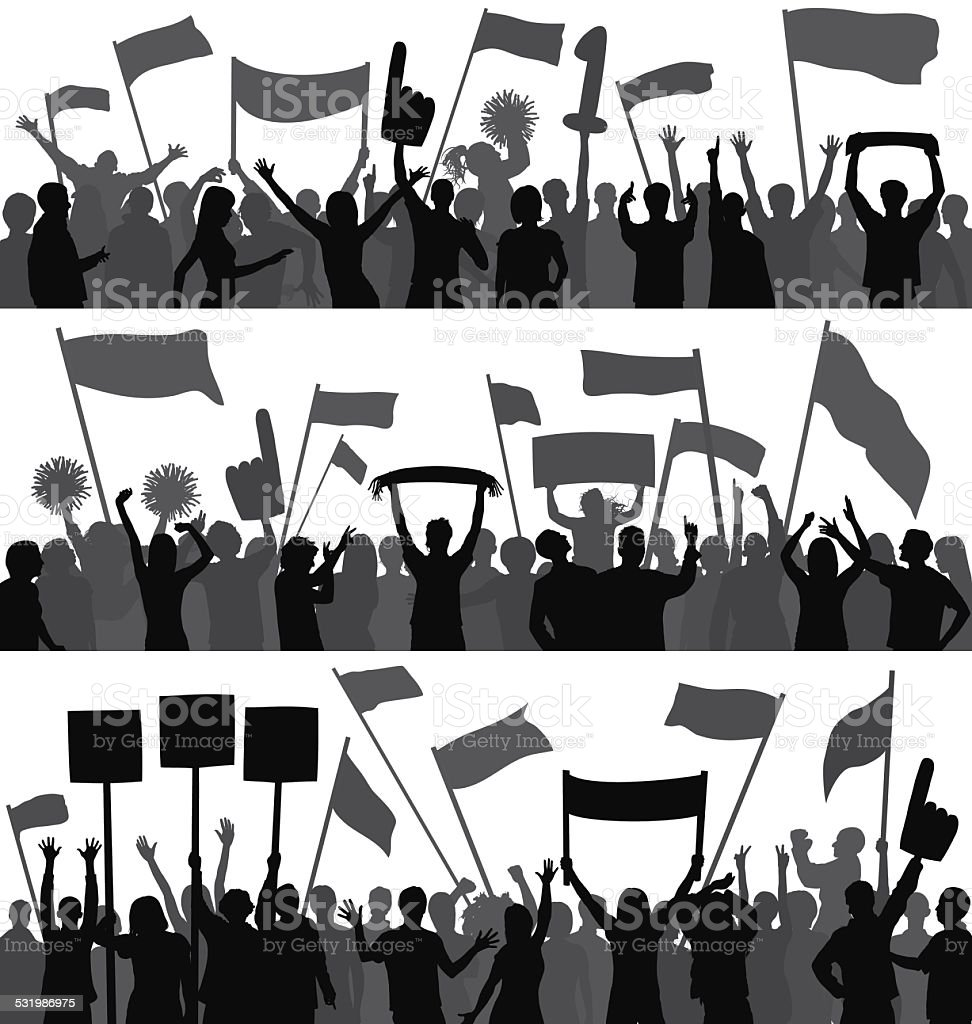 Crowd (People Can Be Moved) vector art illustration