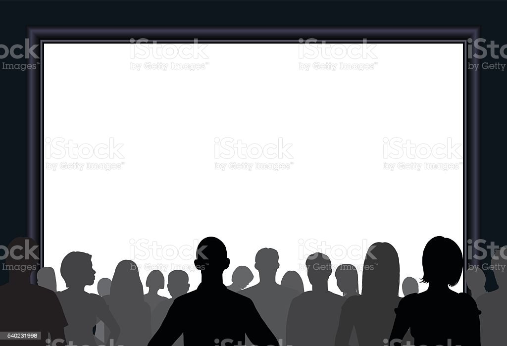 Crowd (All Complete People, a Clipping Path Hides the Legs) vector art illustration