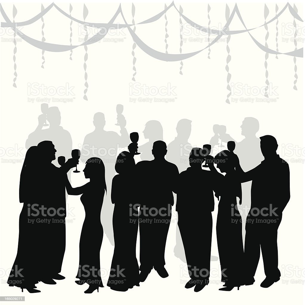 Crowded ToastVector Silhouette Vector royalty-free stock vector art