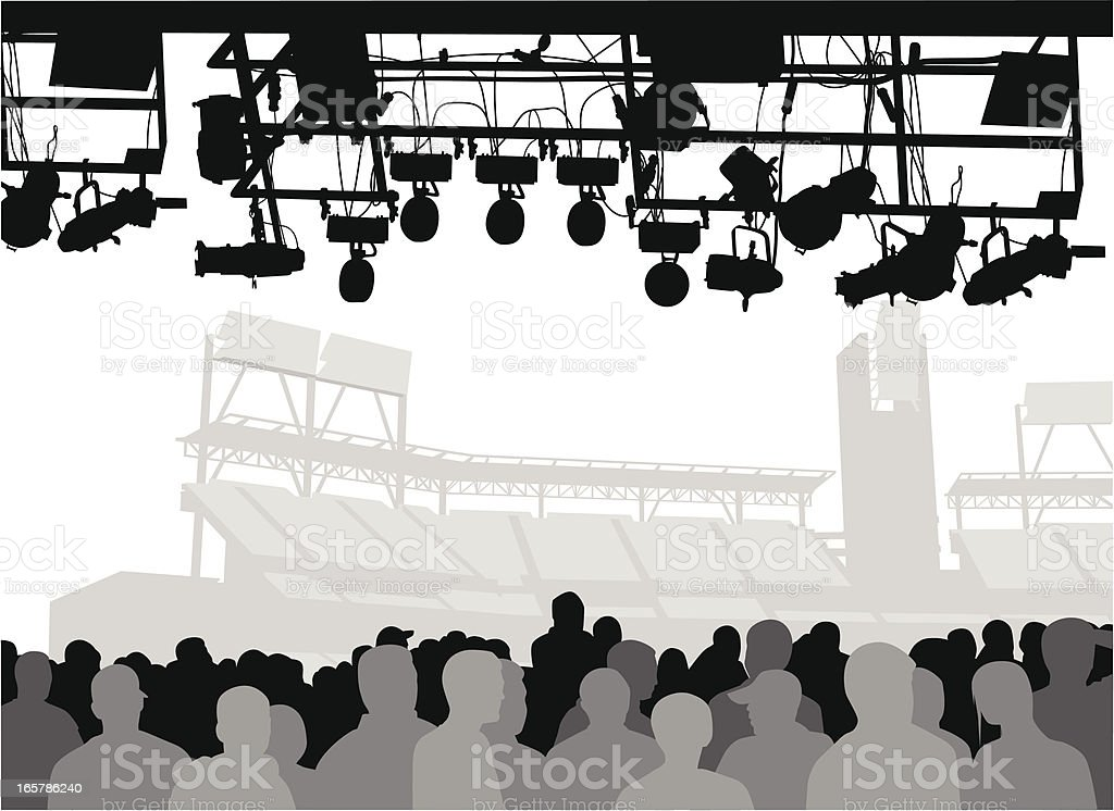 Crowd'n Show Vector Silhouette royalty-free stock vector art