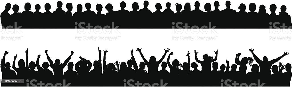 Crowds (People Are Detailed and Complete Down to the Waste) vector art illustration