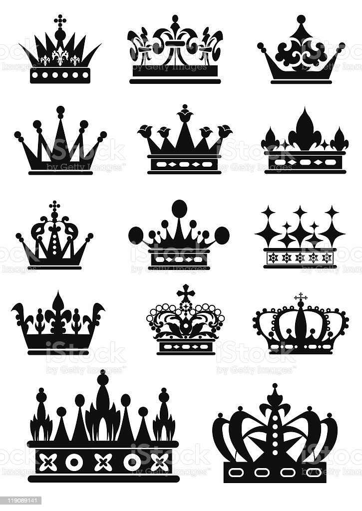 crown black color royalty-free stock vector art
