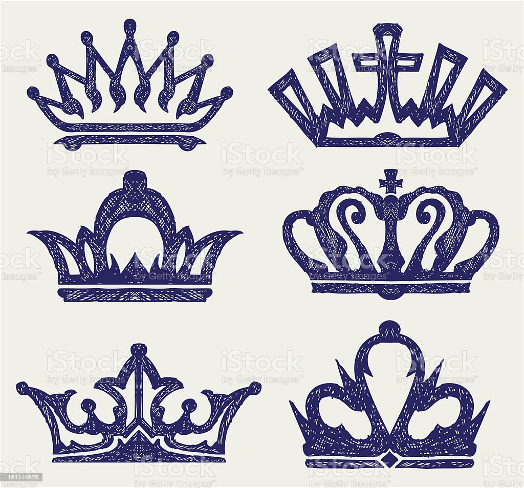 Crown collection royalty-free stock vector art