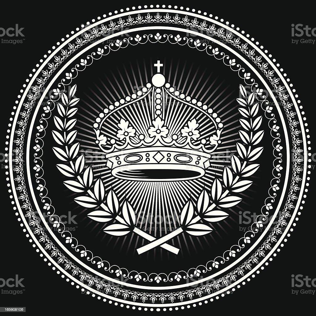 Crown Emblem royalty-free stock vector art