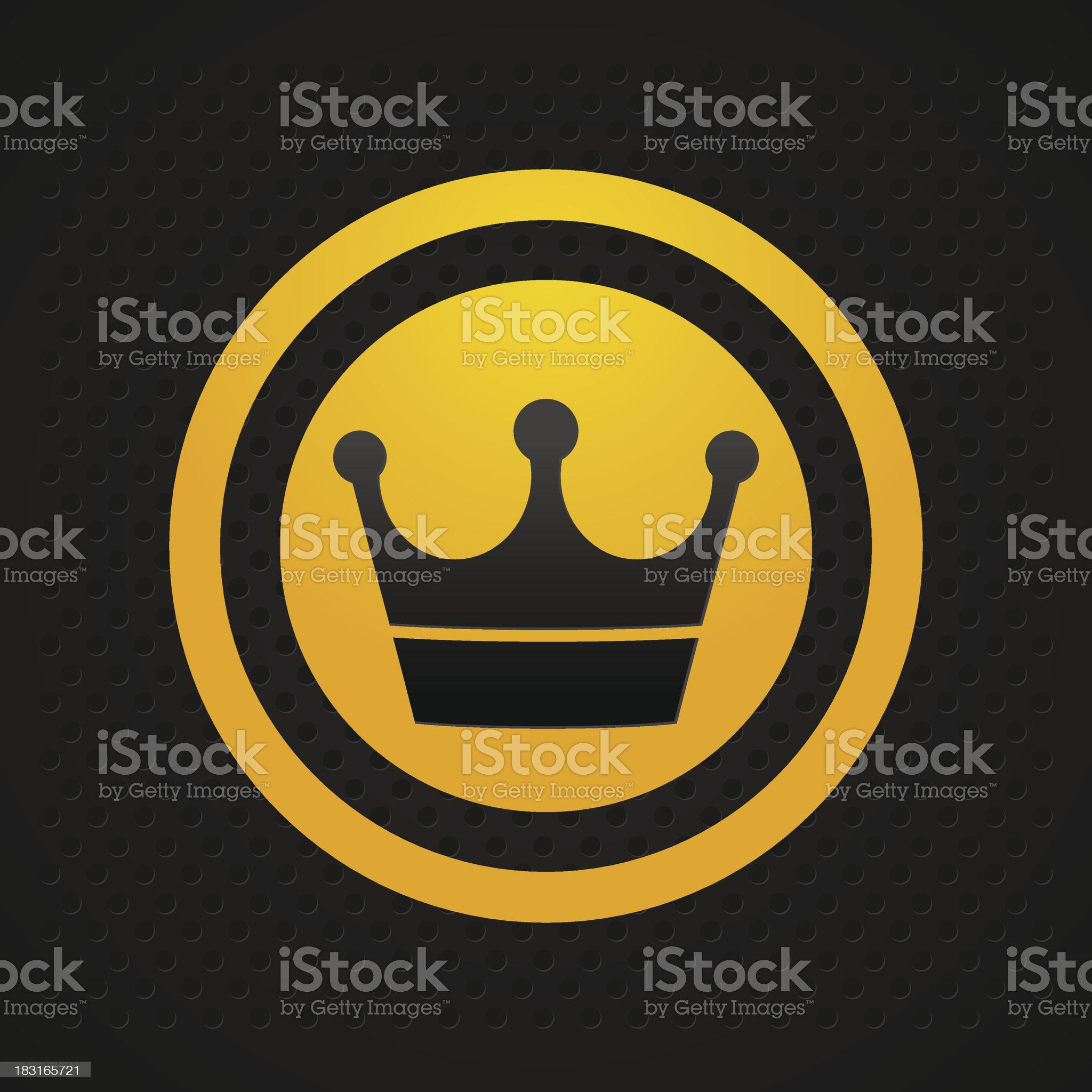 crown icon black royalty-free stock vector art