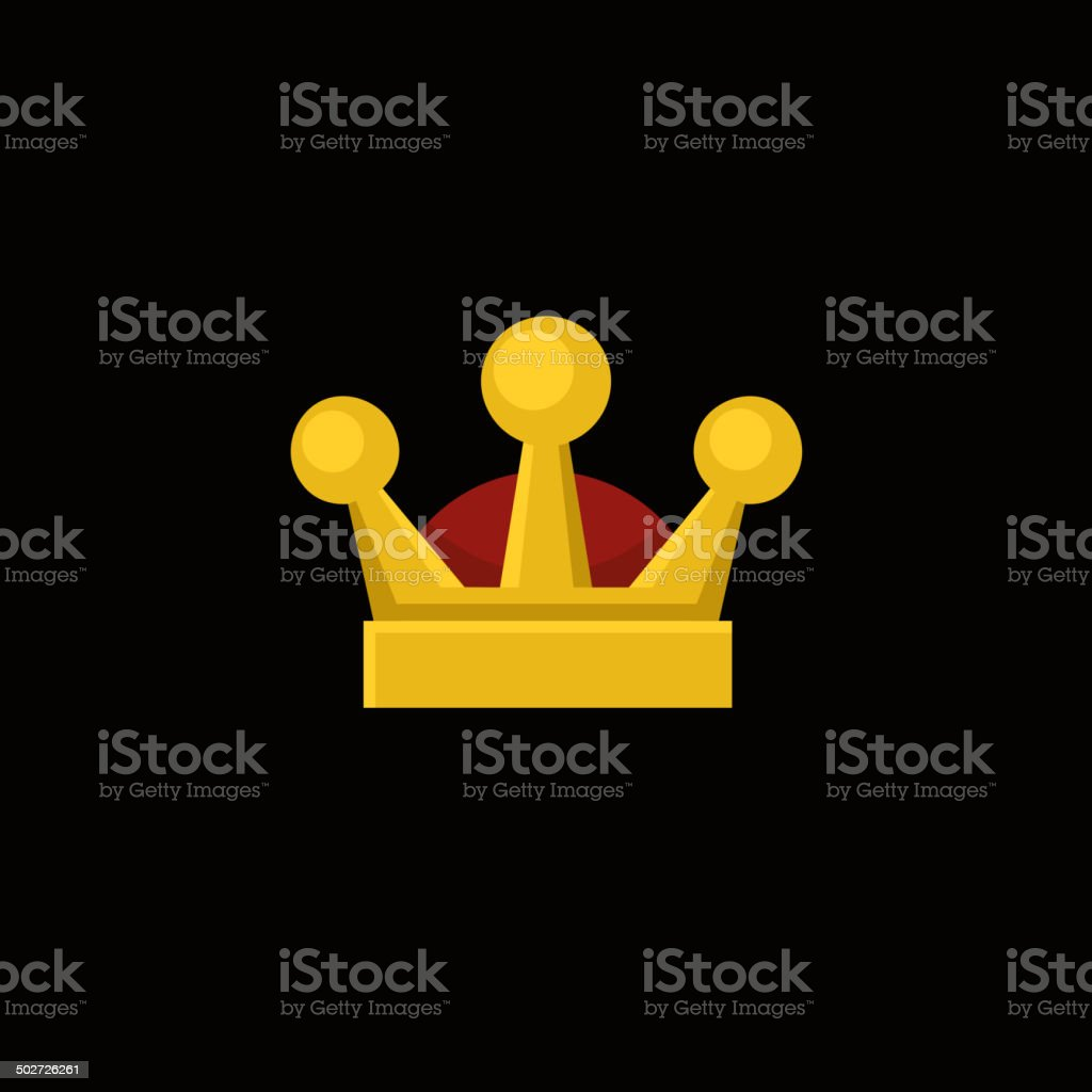 Crown Icon in Flat Design Style. Vector royalty-free stock vector art