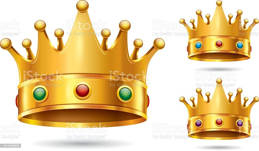 Crown Icon vector art illustration