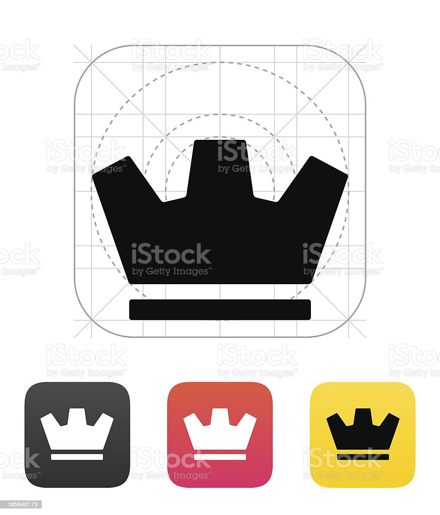Crown icons. Vector illustration. royalty-free stock vector art