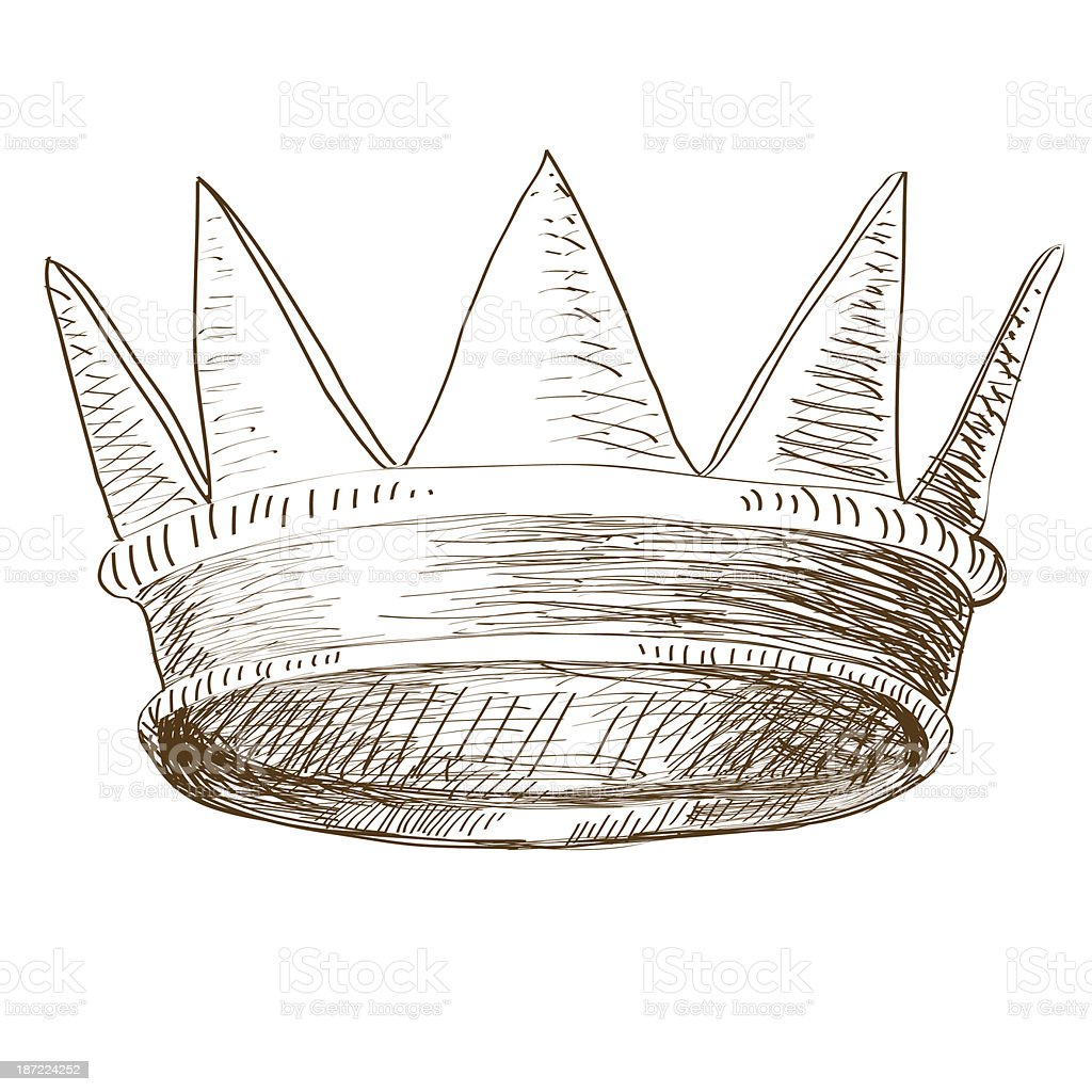 Crown Isolated On White Background royalty-free stock vector art