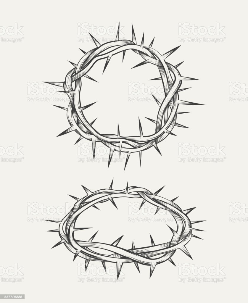 Crown of thorns vector art illustration