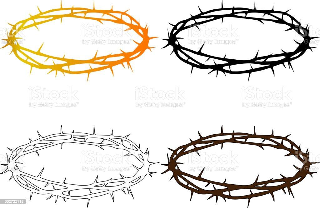 crown of thorns vector art illustration