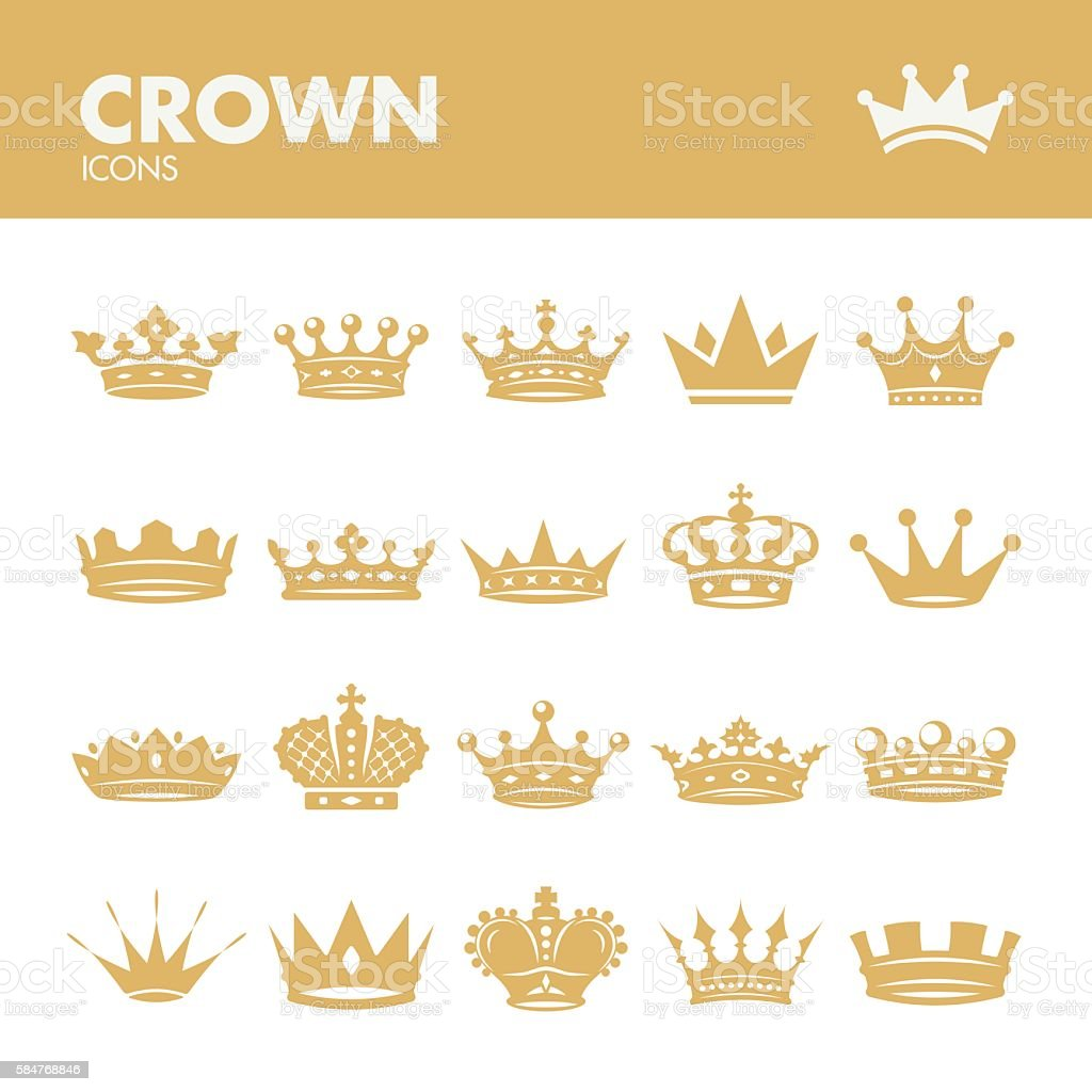 Crown. Royal symbols vector art illustration