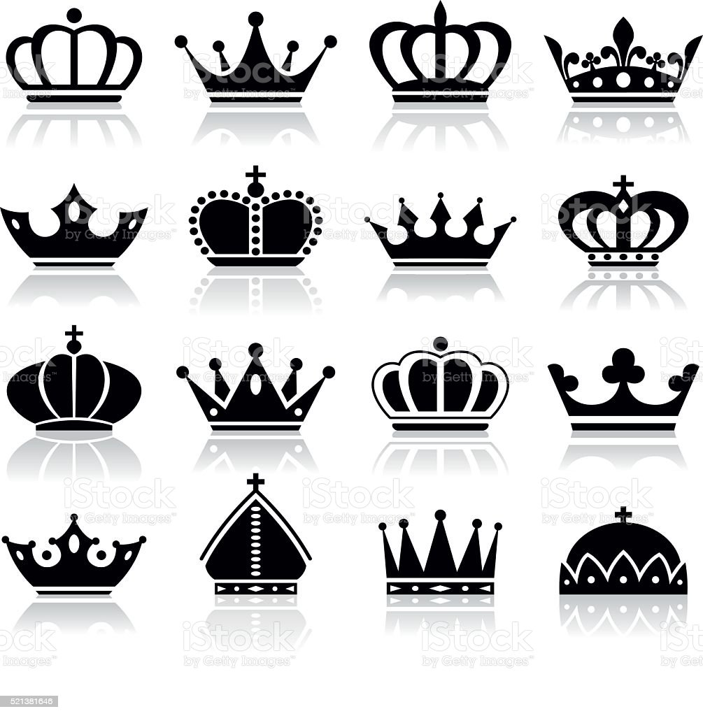 Crown set - Illustration vector art illustration