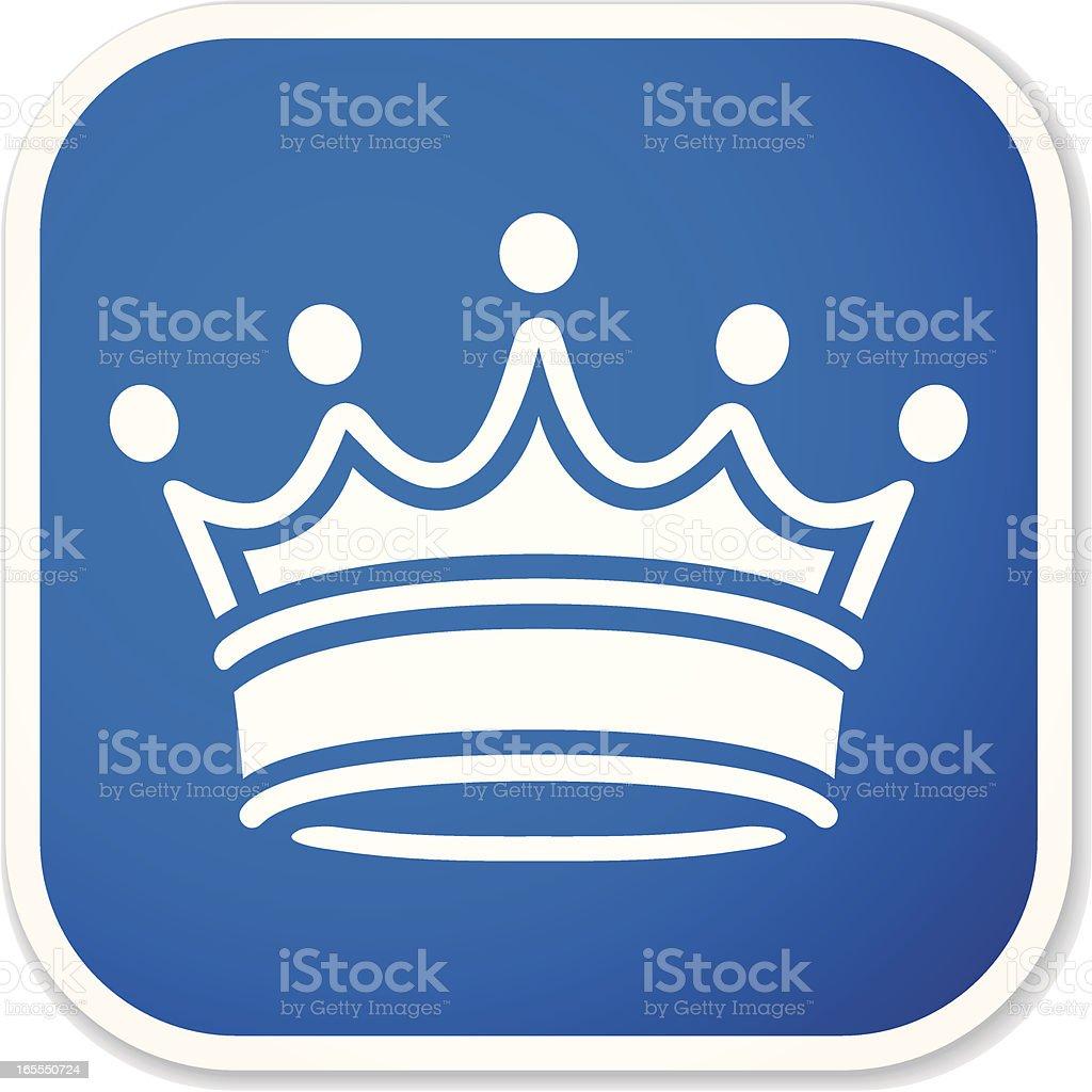 crown sq sticker royalty-free stock vector art
