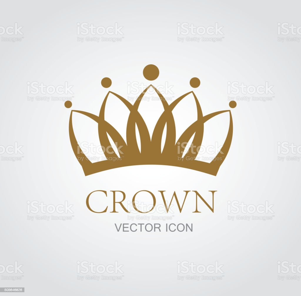Crown symbol royalty-free stock vector art