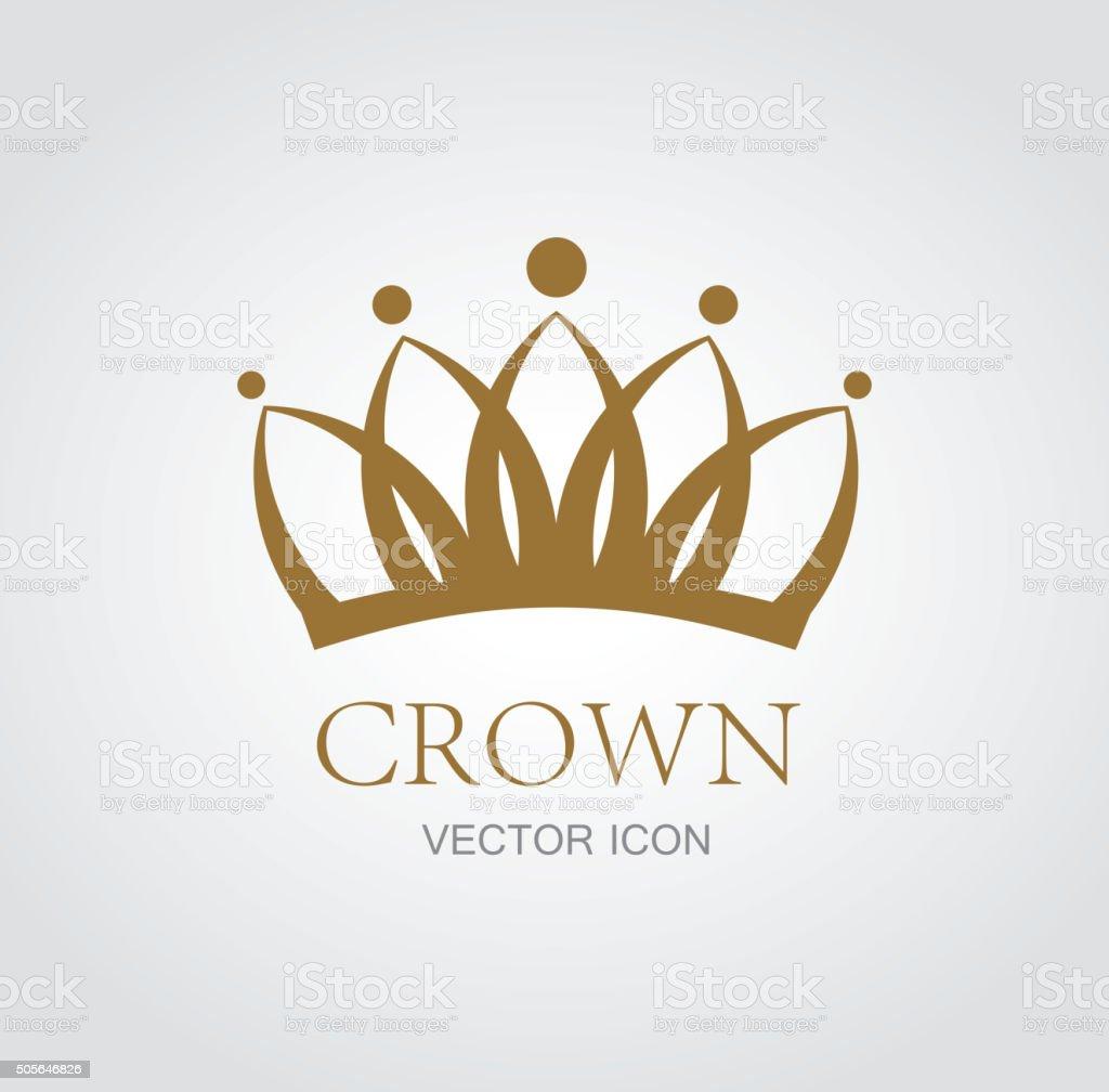 Crown symbol vector art illustration