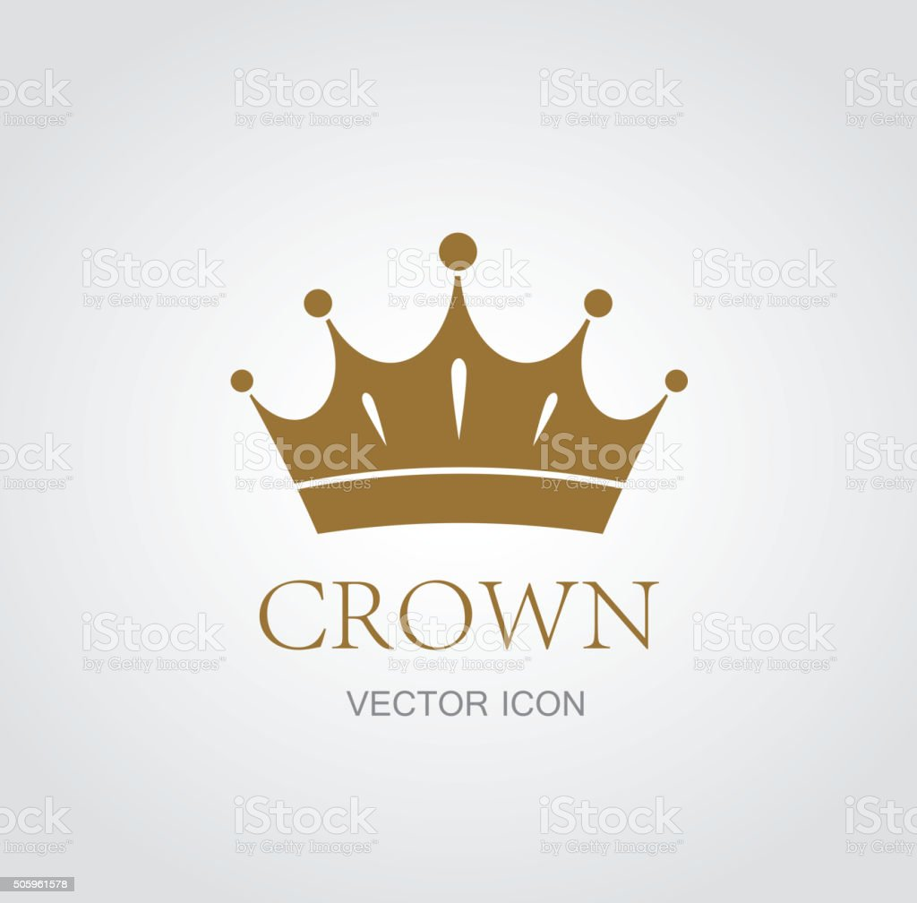 Crown symbol vector art illustration