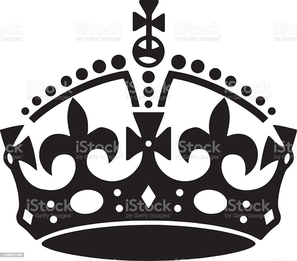 Crown tattoo vector. Men's tattoo. Women's tattoo. vector art illustration